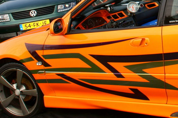 155 foto's of the Car Meeting Point with te most beautiful Pimped Cars at Walibi World in Flevoland